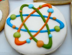 Oh Sugar Events: Mad Scientist Cookies Fancy Cookies, Iced Cookies, Cute Cookies, Royal Icing Cookies, Cookies Et Biscuits, Cupcake Cookies, Sugar Cookies, Science Cake, Mad Science Party