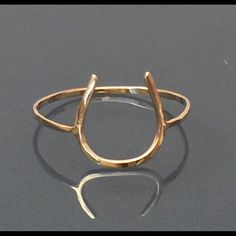 Pure 14k yellow gold horse shoe ring-Goodluck Dainty Beautiful good luck ring made of pure 14k yellow gold. Made of .91mm thick. Skinny! Contact me please for any quesions. All size available. This is handmade by me handcrafted by me Jewelry Rings