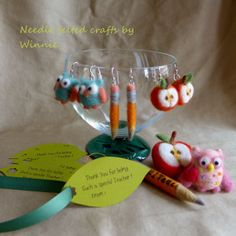Needle felted brooch and charm Gifts for by FunFeltByWinnie, $28.00