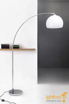 Duncan Standleuchte, Lounge Bogenlampe, H: 166cm, B: 122cm, ø 30cm, 1x E27 max. 60W: Amazon.de: Bürobedarf & Schreibwaren