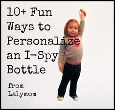 I-Spy Bottles for Kids Personalized by Lalymom