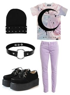 """Pastel Goth"" by pipertehcat ❤ liked on Polyvore featuring BLANKNYC, women's clothing, women, female, woman, misses and juniors"