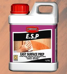 E.S.P. - Easy Surface Prep makes painting on difficult surfaces like ceramics and melamine a breeze! It lets paint stick to any non-porous surface and avoids the need for sanding - thus cutting your surface preparation time drastically!