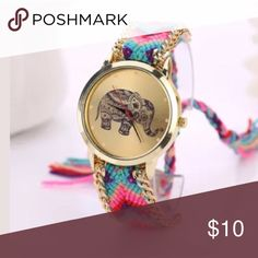 BACK IN STOCK Elephant watch watch -battery included.  2nd picture is not that actual watch but shows an example of the loop tie in back Accessories Watches