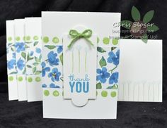 Stampin' Up! Painted Petals DSP, Apothecary Accents Framelits