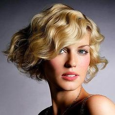 easy+hairstyle+short+wavy