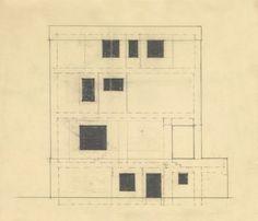 ADOLF LOOS, Fassadenentwurf mit Fensteraufteilung für die Villa Josef und Marie Rufer, Wien, 1922 (Detail)