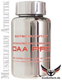Scitec Nutrition DAA Pro Komplex beinhaltet die beliebte D-Asparaginsäure (DAA) mit N,N-Dimethylglycin, Zink und Pantothensäure, Testosteron-Booster.