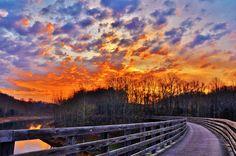 Sunrise on the Creeper Trail. Abingdon, VA