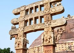 During the third century B.C the  mauryan emperor Ashoka, the great patron of buddhism select the sanchi hill for foundation of a Buddhist Establishment. The temples are typical for its dimension and exuberant orientation.