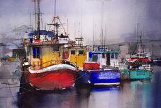 Wicklow Harbour watercolor © John Lovett