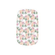 Pink&Peach Floral Pattern Minx® Nail Art