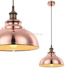 LAMPA wisząca MANDY 15083 Globo metalowa OPRAWA industrialny ZWIS kopuła miedziana