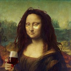 Mona Lisa rocking her eye masks Funny Art, Funny Memes, Hilarious, Classical Art Memes, Mona Lisa Parody, How To Feel Beautiful, Pop Art, Street Art, Instagram
