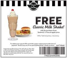 graphic about Shake Shack Printable Coupons named 9 Suitable Taking in Out Discount coupons illustrations or photos inside of 2015 Discount coupons