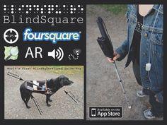 Blindsquare is useful navigation app for blind people to find places. Blindsquare is using Foursquare. Blind people can add accessibility knowledge of services and places by using Foursquare. - Blindsquare on hyödyllinen navigointisovellus sokeille paikkojen ja reittien löytämiseen. Blindsquare hyödyntää Foursquarea. Sokeat voivat lisätä saavutettavuustietoa palveluista ja paikoista käyttämällä Foursquarea.