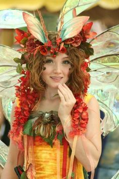 Twig the Fairy celebrates Autumn ... seen at many Renaissance Fairs around the country, or maybe in a forest near you ...