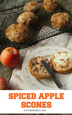 spiced apple scones easy to make and super tasty too Scottish Recipes, Turkish Recipes, Good Food, Yummy Food, Tasty, Healthy Food, Romanian Food, Romanian Recipes, Apple Scones