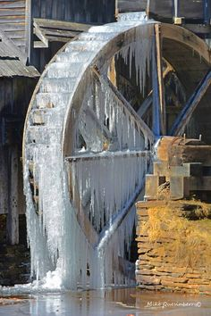 Winter water Wheel