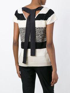Brunello Cucinelli striped shortsleeved sweater