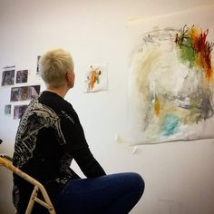 Mhairi Wild in her studio. Find more work on FB at Made WILD.