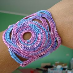 super cool crocheted cuff.