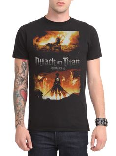 Attack On Titan Fire T-Shirt | Hot Topic