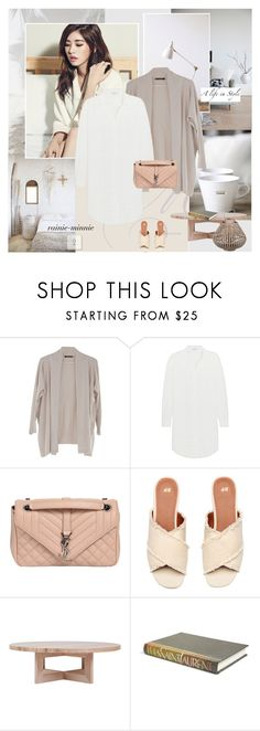 """""""Weekend,Stay Neutral"""" by rainie-minnie ❤ liked on Polyvore featuring MaxMara, Sandro, Yves Saint Laurent and E. Lawrence, Ltd."""