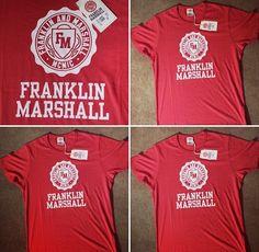 FRANKLIN & MARSHALL  Cervena je farba vitazov. V prevedeni od znacky F&M nema konkurenciu!   Cena: 28 eur  Panske XL-XXL, 100% bavlna.