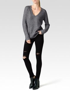 PAIGE® | Richelle Sweater - Grey/Silver