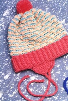 Talking Crochet ... Cool Stripes Hat FREE crochet Pattern