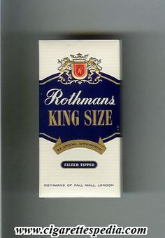rothmans english version by special appointment filter tipped ks 5 h england