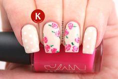 Pink roses and polka dots