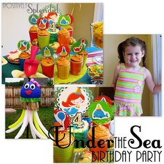 Under the Sea Birthday Party - Positively Splendid {Crafts, Sewing, Recipes and Home Decor} Under The Sea Theme, Under The Sea Party, Dolphin Party, Octonauts Party, Bubble Guppies Party, 2nd Birthday Parties, Birthday Ideas, Happy Birthday, Party Time