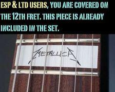 SCARY SKULL Vinyl Guitar Decal Inlay Set