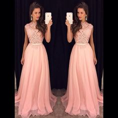 Beautiful Prom Dress, blush pink prom dresses a line prom dress lace prom dress simple prom dress chiffon prom dress simple evening gowns cheap party dress elegant prom dresses 2018 formal gowns for teens Meet Dresses Simple Evening Gown, Evening Dress Long, Simple Prom Dress, Evening Party Gowns, Chiffon Evening Dresses, Lace Chiffon, Chiffon Skirt, Lace Skirt, Blush Pink Prom Dresses