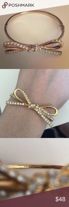 Kate Spade Bow bracelet This is a classic Kate Spade ♠️ bow bracelet that you will fall in love with. Worn only once! kate spade Jewelry Bracelets