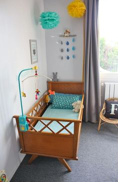 Here are some cool, amazing and cute bedroom ideas, image collection perfect for baby,kids, and teen with these stylish and inventive decorating. Baby Bedroom, Baby Boy Rooms, Nursery Room, Kids Bedroom, Nursery Decor, Nursery Themes, Bedroom Decor, Vintage Crib, Vintage Nursery