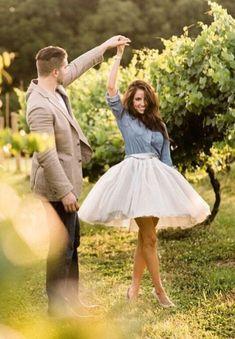 Silver Gray Tulle skirt #weddingphotography