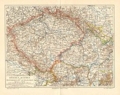 1893 Original Antique Dated Map of by CabinetOfTreasures on Etsy