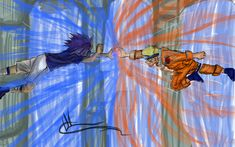 Naruto vs. Sasuke // Rasengan vs. Chidori by IcaWater on DeviantArt