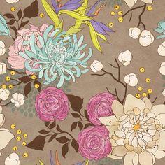 Papel mural flores colores suaves