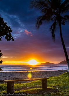 View of Pacific Ocean at sunset, Costa Rica