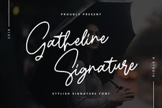 Gatheline is a charming and sophisticated script font with a unique approach to lettering. It will add that authentic touch.