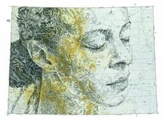Art with vintage maps by Ed Fairburn