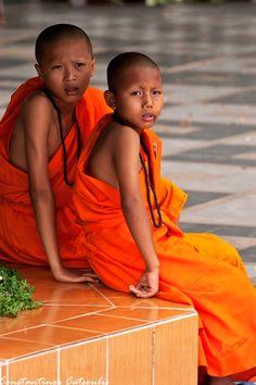 Novice Monks - Doi Suthep, Chiang Mai, Thailand