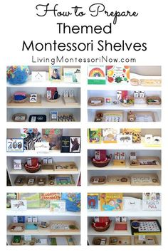 Tips for preparing themed Montessori shelves for toddlers, preschoolers, and children through early elementary. Montessori themed ideas throughout the year - Living Montessori Now