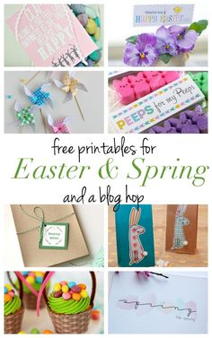 "Back again with our monthly blog hop, bringing you 8 adorable free printables to help you celebrate Spring and Easter. I'm so ""HAPPY"" (pun intended) to share these happy pinwheels with you. Pinwhee..."