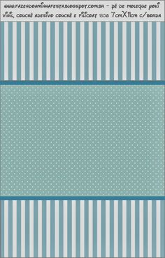 Light Blue and White Stripes and Polka Dots Free Printable Candy Bar Labels.