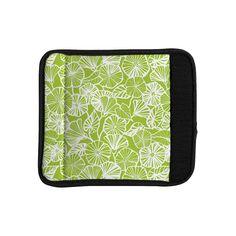 Kess InHouse Jacqueline Milton 'Vine Shadow - Lime' Floral Luggage Handle Wrap